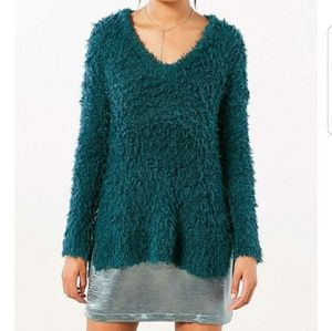 NWT Urban Outfitters Teddy V Neck Pullover